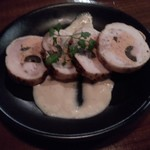 99981842 - 桜姫鶏とライプオリーブのガランティーヌ(480円)