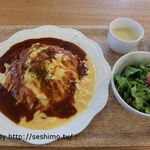 のうきょうカフェ ベジテーブル - オムライスランチセット