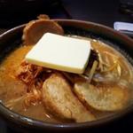 味噌屋麺四朗 - 北海道味噌肉ネギ+チャーシュー+バター