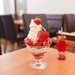 King Farm Cafe - いちごパフェ☆