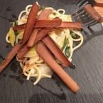 チャコール クッキング ツクバ マイス - 長ネギとシチリアマグロのカラスミのペペロンチーノ 自家製生パスタ