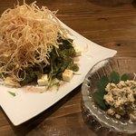 島料理 海響 - いすんサラダ、長命草の白和え