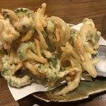 島料理 海響 - ゴーヤのかきあげ
