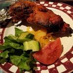 アシルワード - ◆「タンドールチキンランチ」       トマトときゅうりのカチュンバルも美味しい✨