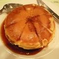 syrup-soaked pancake